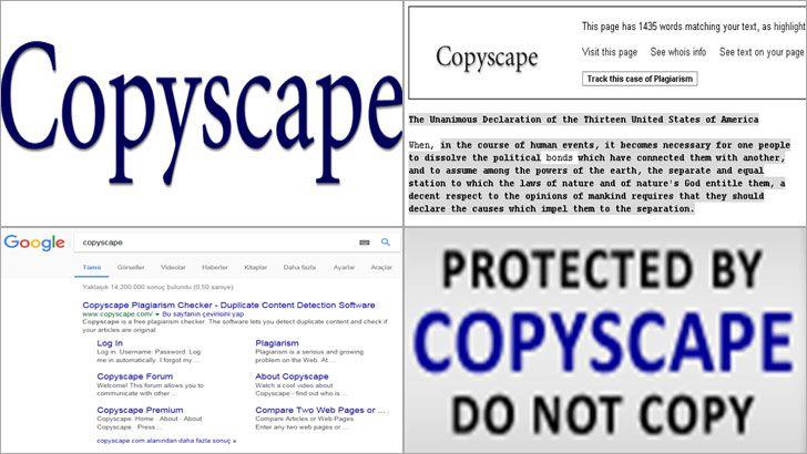 Copyscape, online yani çevrimiçi veri hırsızlığının tespit edilmesi amacıyla web üzerinde gelen bir çözümdür. Copyscape, web sitesinden içerik çalanların yanı sıra, izinsiz olarak kopyalanan içerikleri kapsayan sitelerin de tespit edilmesini sağlamaktadır.