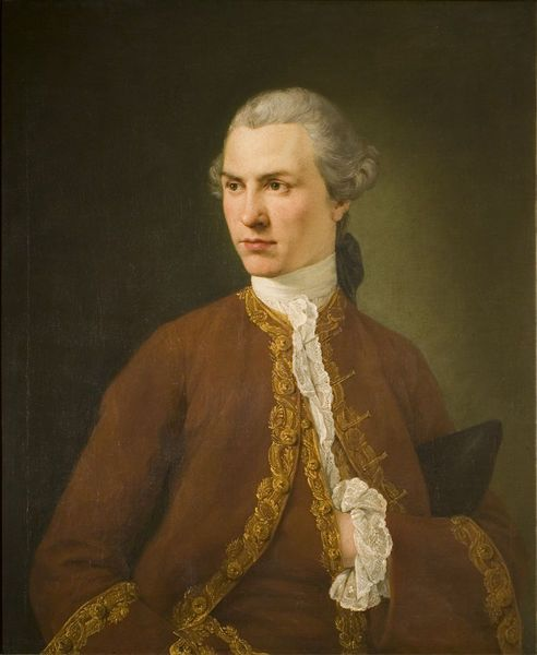 An unknown young man, Ramsay, Allan, 18th century, Oil on canvas. Bequeathed by Claude D. Rotch. l Victoria and Albert Museum