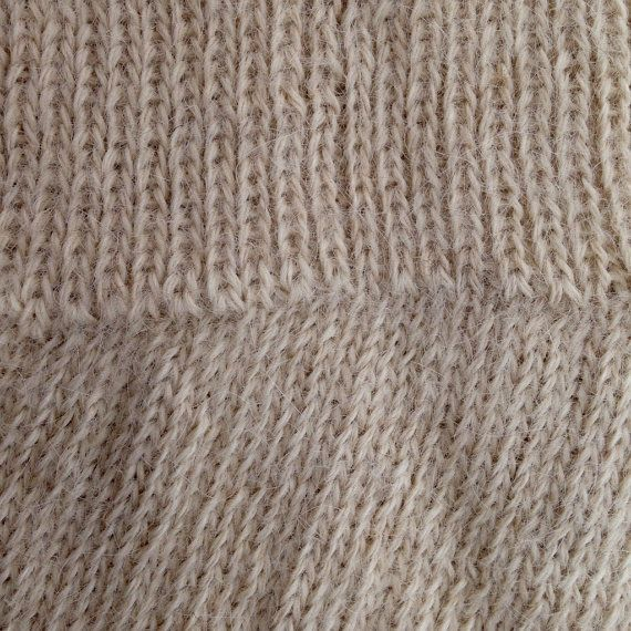 Alpaca Socks Oatmeal Cream Ladies by CliftonAlpacas on Etsy