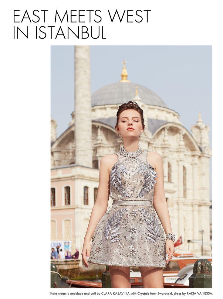 Raisa Vanessa silver dress with Swarovski crystals