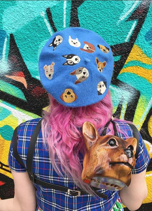 @jeanetteconverse in the Dog Friends Beret by Elleni the Label