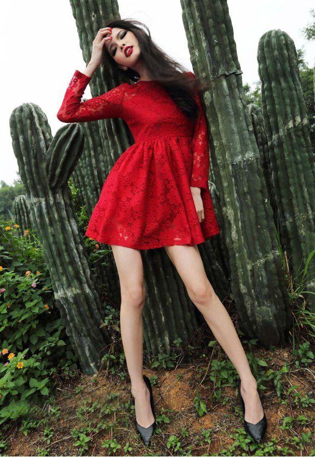 Short Red Fashion Dresses