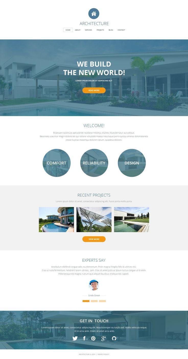 541 best webdesign images on pinterest design websites for Architectural websites