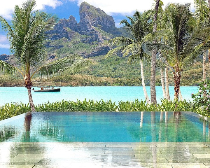 White-sand beaches, tropical foliage, unmatched sunset views... It's all yours. This secluded @Four Seasons Resort Bora Bora beachfront villa comes with its own private pool.