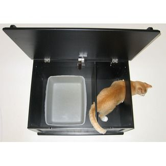 "Cat box furniture - keeps your dogs from getting kitty ""treats""."