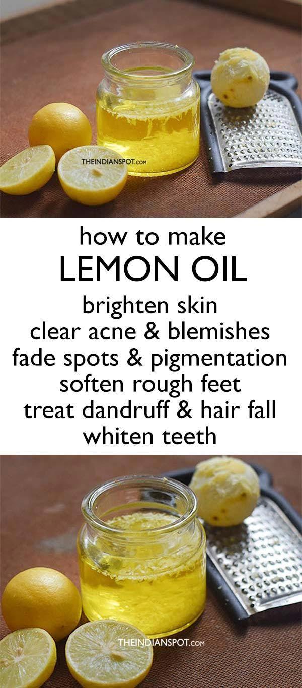 How To Make Lemon Oil At Home Natural Skin Care Skin Care Natural Skin