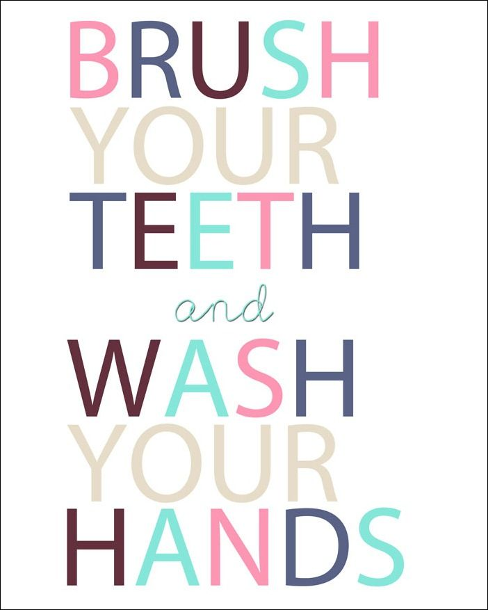 Bathroom Signs Brush Your Teeth 17 best great tooth printables images on pinterest | kid bathrooms