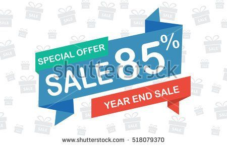 sale eighty five percent year end sale