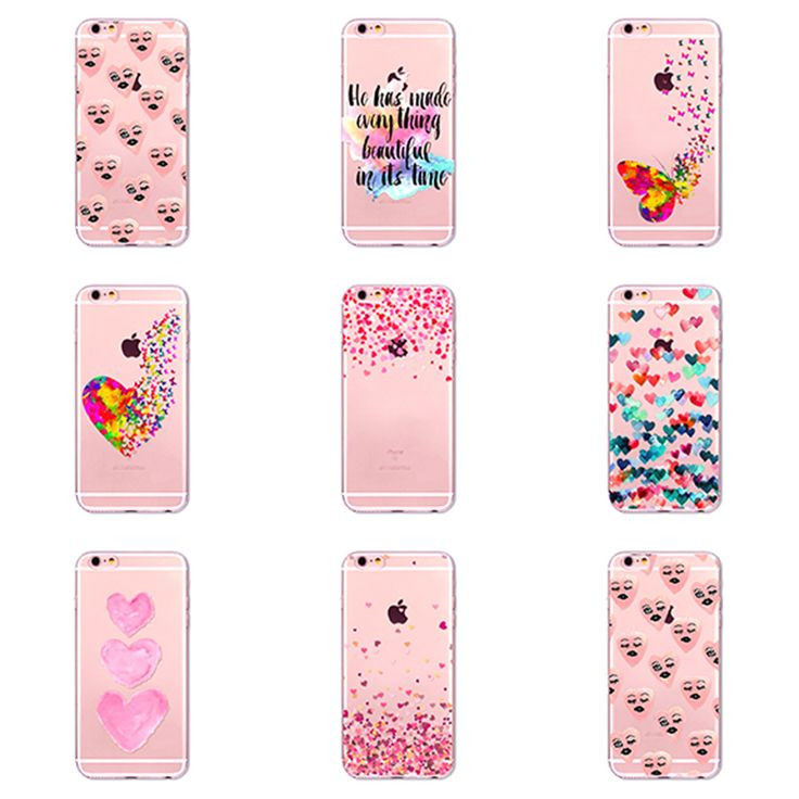 Silicone Cases with Pink Hearts for iPhone //Price: $14.99 & FREE Shipping //     #cases