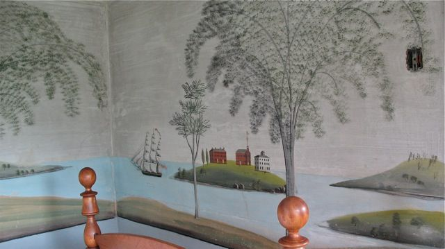 1000 images about murals like rufus porter on pinterest for What kind of paint to use on kitchen cabinets for painted american flag wall art