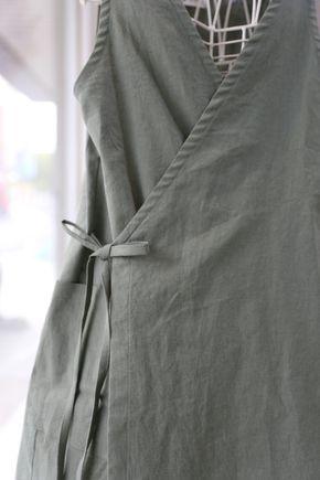 조끼형앞치마(바이오린넨) 사계절린넨원단으로 제작된 조끼형앞치마에요 사이즈는 5566프리/77/88(비용추가...