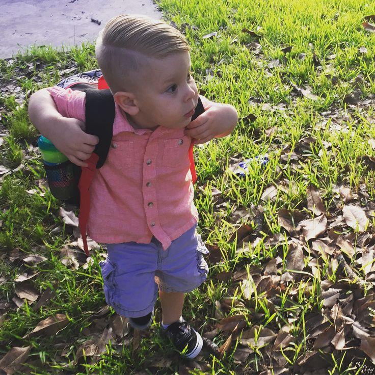 Toddler undercut with hard part- toddler boy haircut!