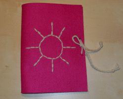 Notizbuch aus Filz basteln