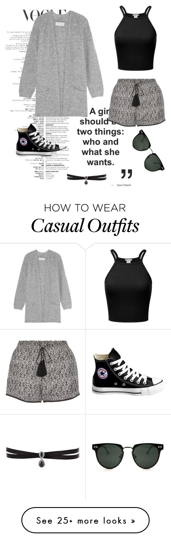 """""""Casual"""" by litm0115 on Polyvore featuring By Malene Birger, Talitha, Converse, Fallon, Spitfire, tumblr, converse, lazy and comfy"""