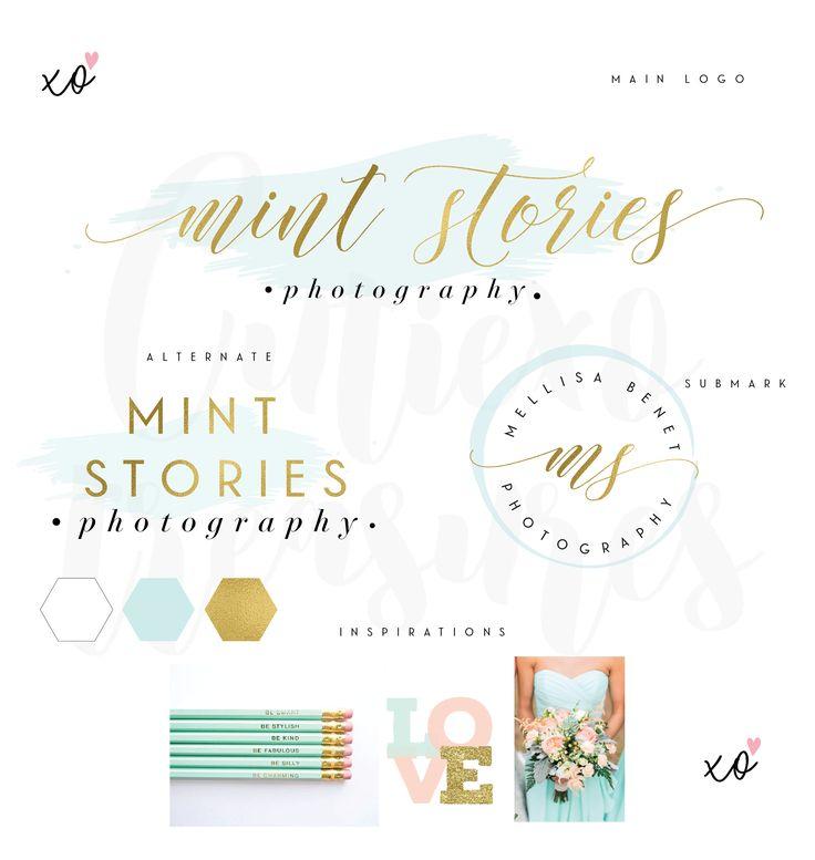 Mint Logo - Premade Logo - Branding Package - Branding Kit