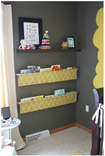 Cool idea for a book shelf in a kids room!