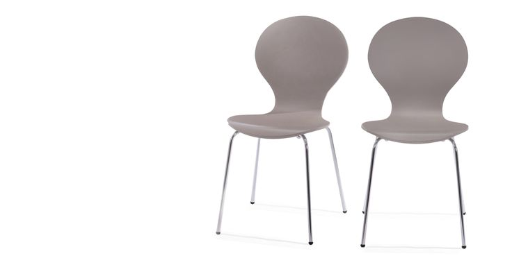 2 x Kitsch Dining Chairs, Willow Grey