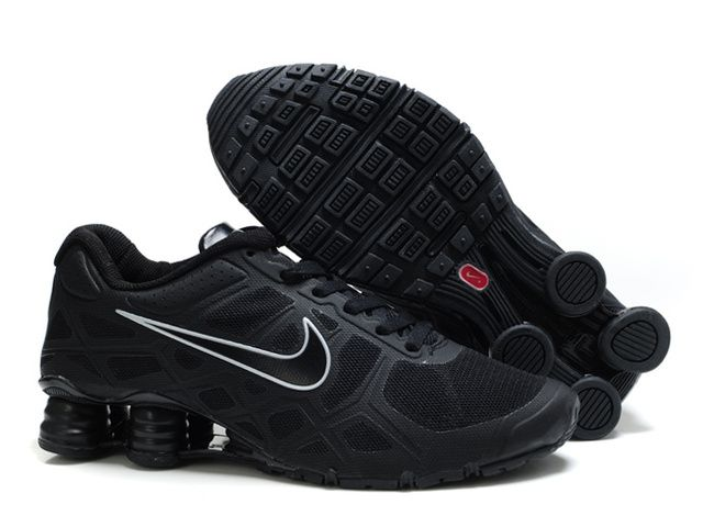 Nike Shox R6 Mens All Black Shoes a classic style Nike Running Shoes ,Sale  Now