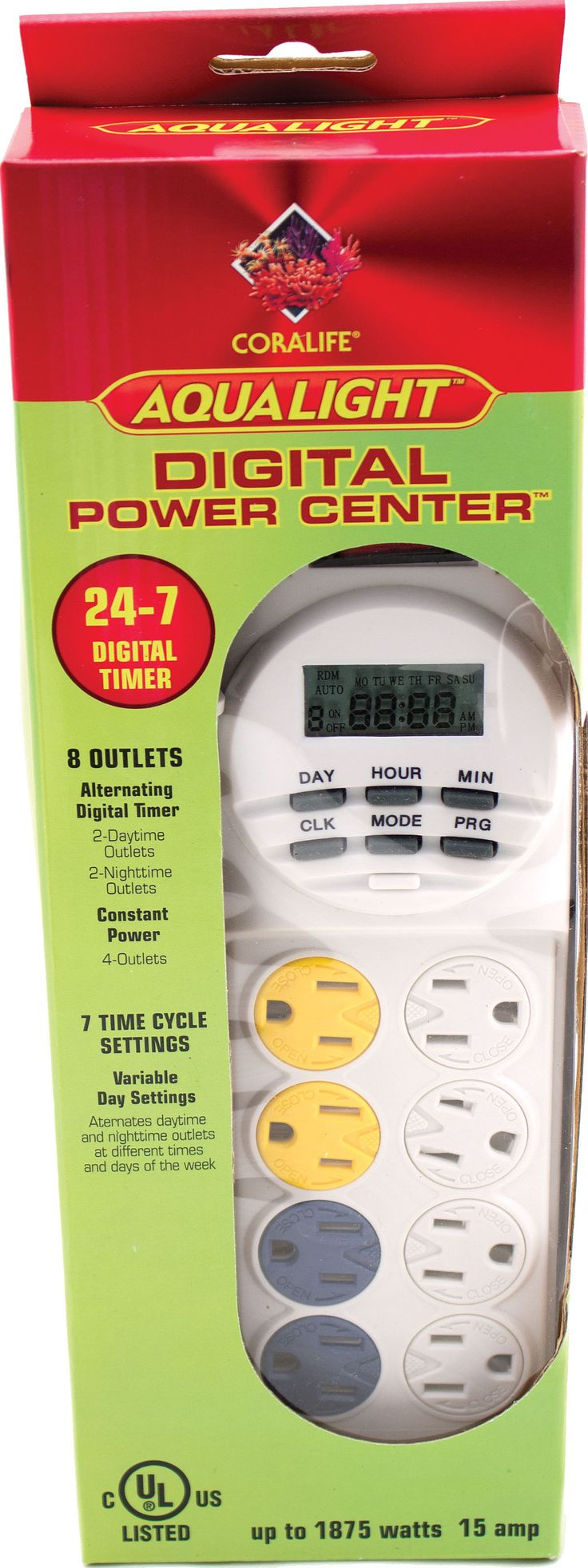 Aqualight Power Center 24-hr Digital Timer