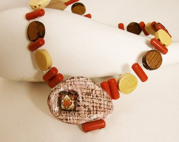 Monferrina  ooak necklace by Joo by Joogr on Etsy, €27.00