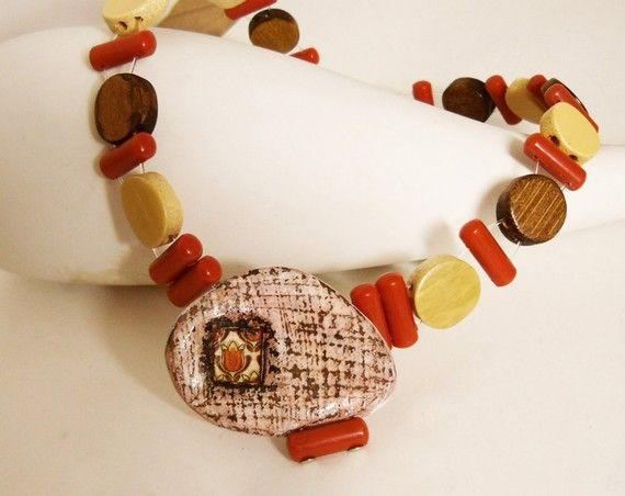 Monferrina  ooak necklace by Joo by Joogr on Etsy, €27.00