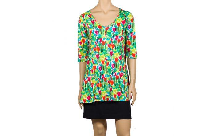 Camiseta larga estampada con tulipanes #Print #Design #instintobcn