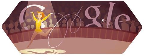 Olympische Spelen Londen 2012 ritmische gymnastiek Google Doodle