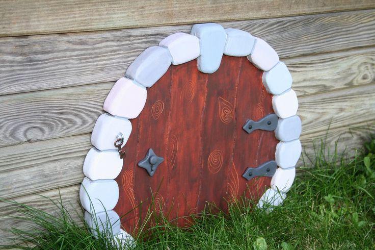 Décoration murale en bois - Porte féérique pour entrer dans un monde imaginaire - Fairy door : Chambre d'enfant, de bébé par boisdesoluthe