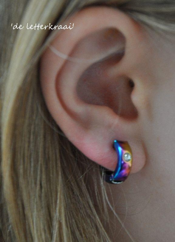 Magnetische oorbellen RINGETJE kleurtjes, geen gaatjes nodig!
