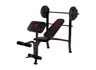 Marcy Club Bench with 80-lb. Barbell Weight Set  available at #Big5SportingGoods