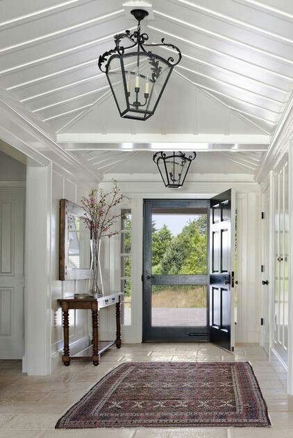 Entry way - love the lights