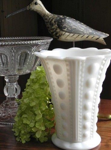 57 Best Images About Hobnail Milk Glass On Pinterest Cookie Jars Vases And Vintage