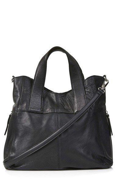 Topshop 'Alba' Leather Hobo Bag available at #Nordstrom but in burgundy