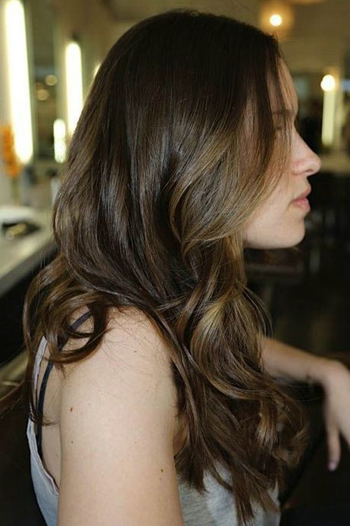 77 best brown hair colors images on pinterest hairstyles dark brown hair color with subtle highlights pmusecretfo Images