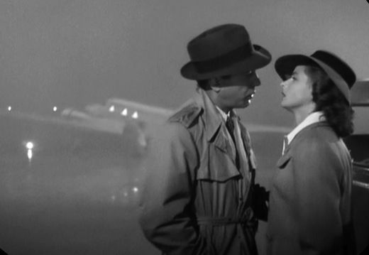 An incredible moment of movie history in 'Casablanca' ....