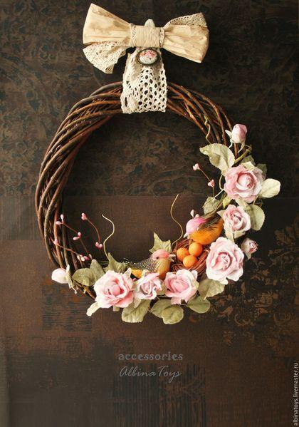 Easter interior wreath / Венок. Венки интерьерные. Весенний. Пасхальный. Альбина Шаронова
