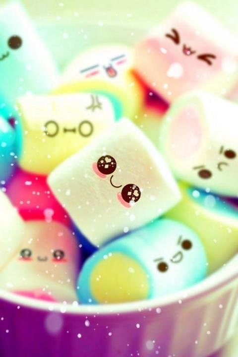 Cute marshmallows