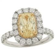 #Henri_Daussi engagement ring with yellow diamond