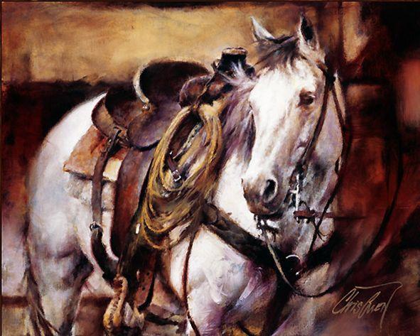 CHRIS OWEN Standing By Horses art prints