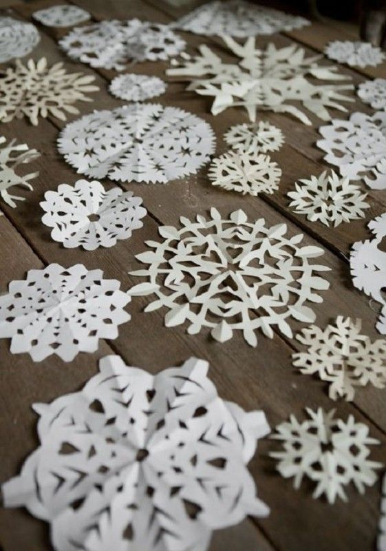 copos de nieve en papel