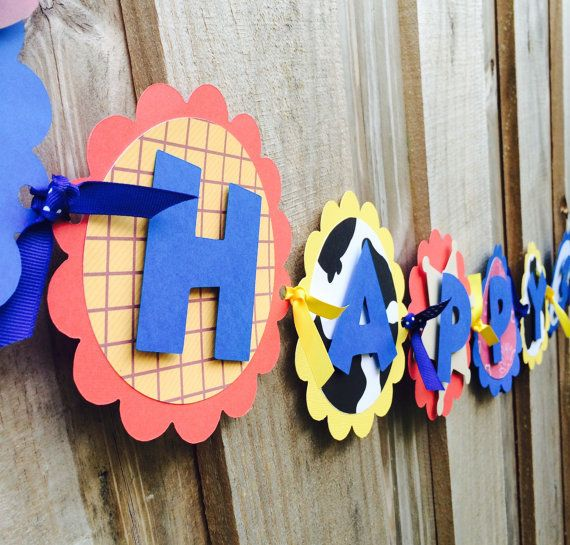 toy story banner toy story birthday by karlaspartycreations