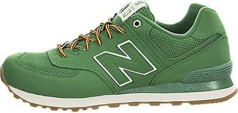 New Balance ML574 Men Round Toe Canvas green Sneakers,