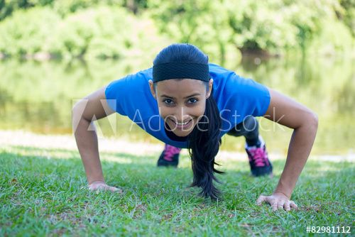 Pushups exercise outside