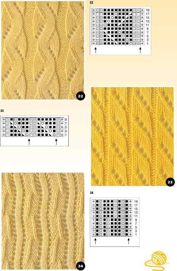 Ажурные полосы спицами | Золотые Руки | Узоры спицами | Постила