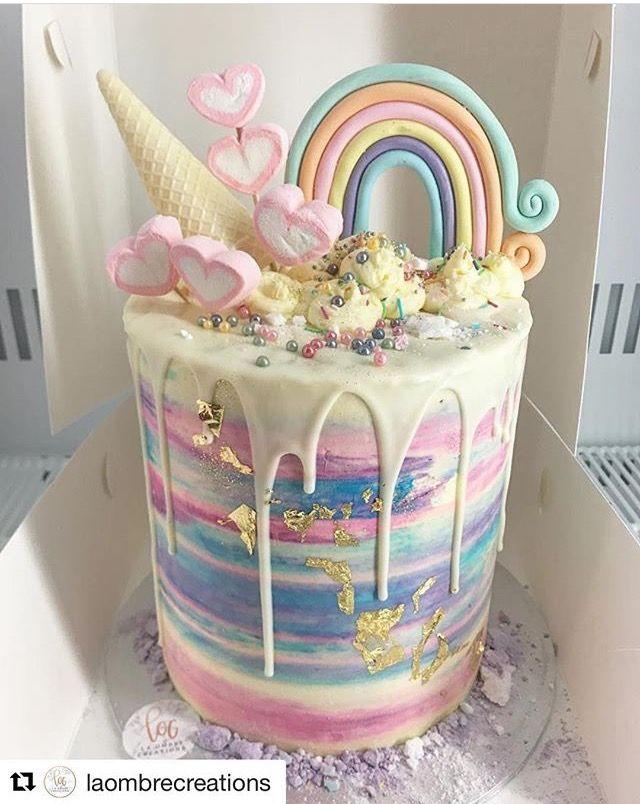 Unicorn cake -- looks SO yummy!