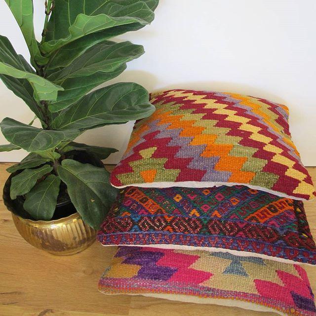 In love with the vibrance and colour of our new cushions ♡ we've already picked out a few faves! Head to thekilim.co .  #kilim #kilimcushion #turkishkilim #kilimrug #bohodeco #bohodecor #bohostyle #bohemian #bohemianstyle #nurserydecor #jungalowstyle #jungalow #vintage #vintagekilim #turkishrug #goldcoast #homestyle #interiordesign #myhomestyle