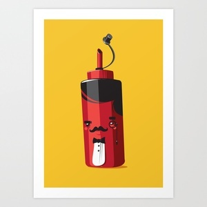 Fancy Ketchup Art Print by Fightstacy