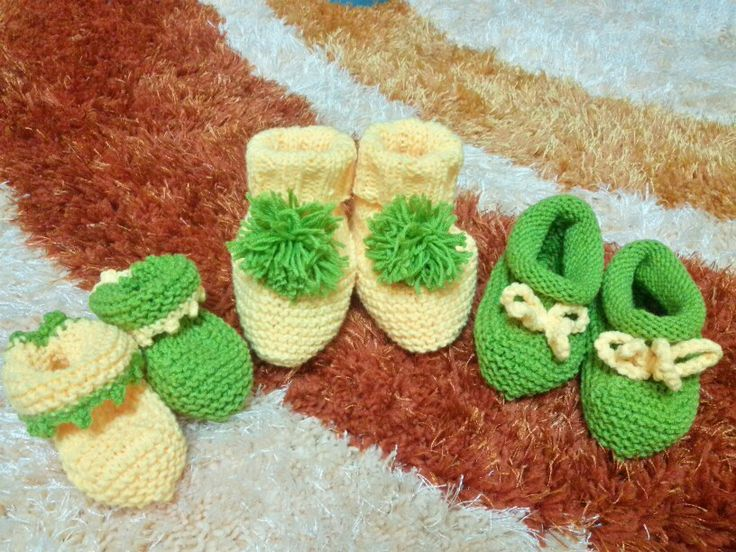 Baby booties  Using free patterns from yarnspiration website