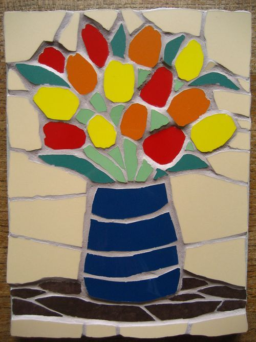 """Isn't it lovely? It's a handmade mosaic picture made by the very talented Felicity at """"Just Mosaics""""."""
