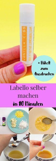 Schöne DIY Geschenk Idee: Lippenbalsam selber machen. So einfach kannst du dir …